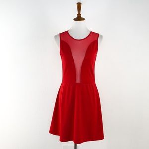 For Love & Lemons Red Sleeveless Fit & Flare Dress